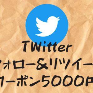 twitterのフォローとリツイートで5000円プレゼント